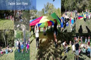 école Sainte Marie Fuveau sortie à la vallee saint pons tous réunis ensemble et sans cartable célébration de la rentrée des classes 2019