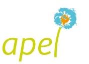 Ecole Sainte Marie Fuveau Logo association parents d'élèves écriture verte le L est la tige d'une fleur pissenlit dessinée au-dessus