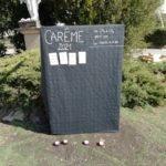 Ecole Sainte Marie Fuveau symbolique stelle pour oubliés de la rue fond noir écriture blanche